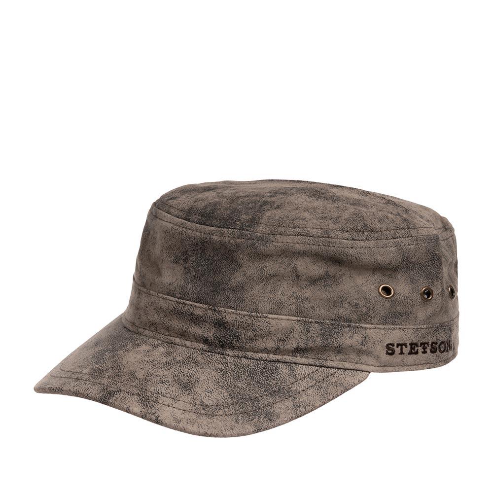 Кепка STETSON арт. 7497105 ARMY CAP PIGSKIN (темно-коричневый)