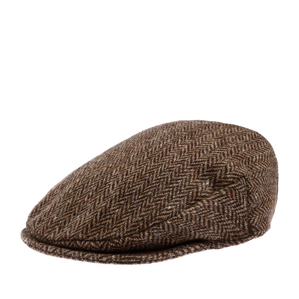 Кепка HANNA HATS арт. Vintage 77B2 (коричневый / черный)