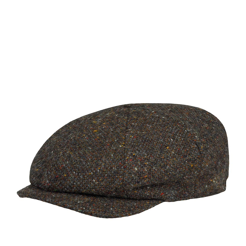 Кепка HANNA HATS арт. JP Tweed JP2 (коричневый / черный)