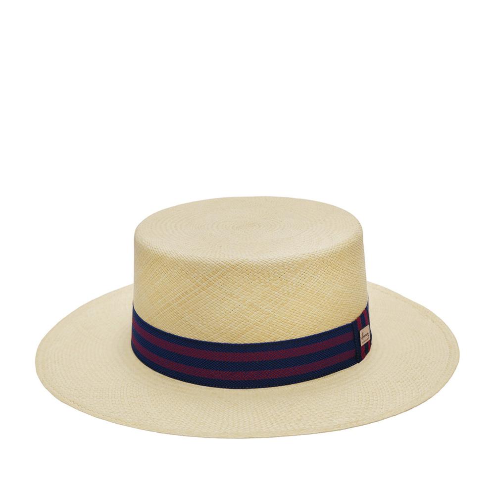 Шляпа HERMAN арт. ANDALOU (бежевый / синий)