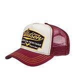 Бейсболка STETSON арт. 7751103 TRUCKER CAP AMERICAN HERITAGE (бордовый / белый)