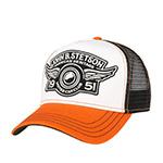 Бейсболка STETSON арт. 7751130 TRUCKER CAP CAR CLUB (белый / рыжий)