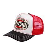 Бейсболка STETSON арт. 7751131 TRUCKER CAP HERITAGE (белый / красный)