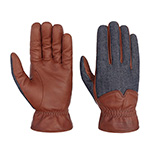 Перчатки STETSON арт. 9497212 GLOVES GOAT NAPPA-DENIM (коричневый)