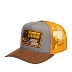 Бейсболка STETSON арт. 7751174 TRUCKER CAP MOONSHINE (коричневый / серый)