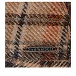 Кепка STETSON арт. 6380318 DRIVER CAP WOOL CHECK (коричневый / бежевый)