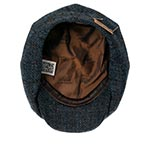 Кепка STETSON арт. 6810506 8-PANEL CAP HARRIS TWEED (синий / серый)