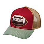 Бейсболка STETSON арт. 7751178 TRUCKER CAP COLLEGE FOOTBALL (оливковый / красный)