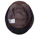 Кепка STETSON арт. 6380322 DRIVER CAP VIRGIN WOOL (синий / зеленый / коричневый)