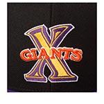 Бейсболка AMERICAN NEEDLE арт. 400A1V-CXG Cuban X-Giants 400 Series MILB (черный / фиолетовый)