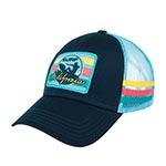 Бейсболка AMERICAN NEEDLE арт. 21007A-CA California Surf Tri-Color (голубой / темно-синий)