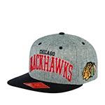 Бейсболка AMERICAN NEEDLE арт. 42992A-CBH Chicago Blackhawks Stanton NHL (серый / черный)