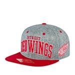Бейсболка AMERICAN NEEDLE арт. 42992A-DRW Detroit Red Wings Stanton NHL (серый / красный)