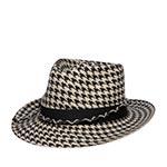 Шляпа SEEBERGER арт. 18479-0 FELT FEDORA (черный / белый)