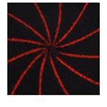 Берет LE BERET FRANCAIS арт. MARINIERE (черный / красный)