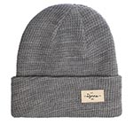 Шапка DJINNS арт. TurnUp Waffle Knit 2 (серый)