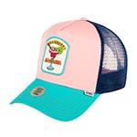 Бейсболка DJINNS арт. HFT Food StrawMaga (розовый / голубой)