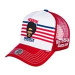 Бейсболка DJINNS арт. HFT Herbie (белый / красный)
