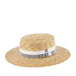 Шляпа HERMAN арт. BOATER S1802 (бежевый / белый)