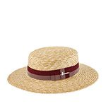 Шляпа HERMAN арт. BOATER S1802 (бежевый / бордовый) {red}