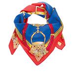 Шарф HERMAN арт. CAVALIERE (синий / красный)
